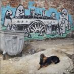"""Mieszko Pierwszy """"na własnych śmieciach.."""" (2013-06-30 19:43:29) komentarzy: 4, ostatni: fajny mural; dobrze złapane :)"""