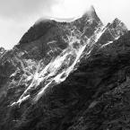 """marek2112 """"Dent\'de Herens..."""" (2014-12-02 23:38:09) komentarzy: 10, ostatni: BALTORO: masyw Matterhornu, w prawo przełęcz Lion, a następnie grań Lion wyprowadzająca poprzez schron Carell i Pick Tyndall na Matterhorn, a poprawniej to z tej strony na Cervinio... :)"""