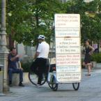 """miastokielce """"Ul. H. Sienkiewicza; Kielce"""" (2015-06-06 09:44:02) komentarzy: 7, ostatni: nie wydaje mi sie zeby cyklista-ewangelista  gnal na leb na szyje z tym minibillboardem, chociaz...;-)"""